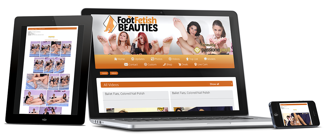 Enjoy FootFetishBeauties on any device: desktop, tablet, smartphone, smart TV and more